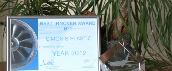 Simonis Plastic Receives the Best Innover Award 2012